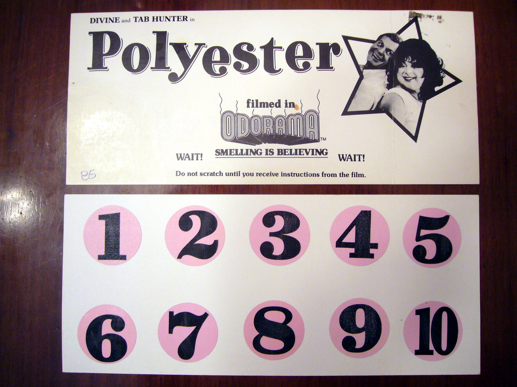 Scratch card for Polyester